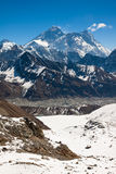 The highest mountain in the world - Everest. View from Renjo Pas Royalty Free Stock Photos