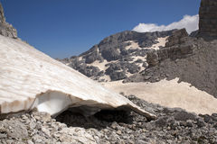 The highest peak at Albanian Alps Stock Image