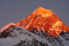 The highest peak of the world - Mount Everest Stock Photo
