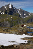Highest peaks on Lofoten Stock Images