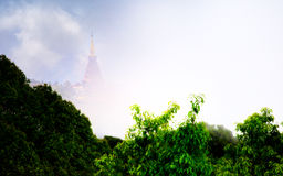The Highest place in Thailand, Great Pagoda in Doi Inthanon national park Royalty Free Stock Photography