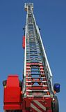 Platform of a fire truck during a practice session in the Fireho Royalty Free Stock Photos