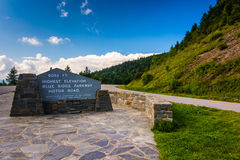 The highest point on the Blue Ridge Parkway, in North Carolina. Royalty Free Stock Photos