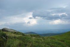 Ukrainian Carpathian Mountains. Mountain range Borzhava near the village Volovets Zakarpattya region. Ukraine. royalty free stock photos