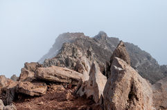 Highest point on La Palma, Canary Islands Stock Images