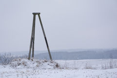 Highest point valley. The highest point of the valley. Small amount of snow due soft winter Stock Photography