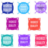 Highest quality abstract colorful banners set / collection. Stock Photography