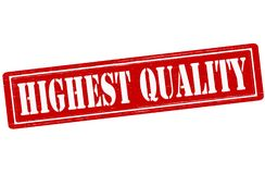 Highest quality. Stamp with text highest quality inside,  illustration Royalty Free Stock Image