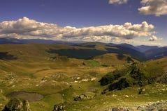 Transalpina. Highest road in Romania during summer stock photos