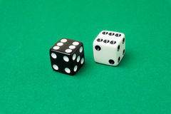 Highest roll of two six sided dice Royalty Free Stock Photos