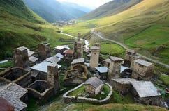 Highest settlement in Europe - Ushguli,Georgia Stock Photo