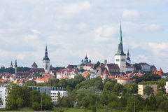 Highest spire of Church of St. Olaf in Tallinn Royalty Free Stock Photography