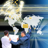 The highest the technology Internet. Allow to solve global problems Stock Images