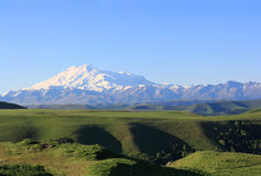Highest top of Europe Elbrus. Image with highest top of Europe Elbrus Royalty Free Stock Photos