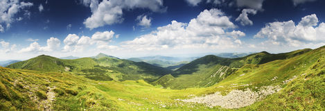 Highest Ukrainian mountain panorama Stock Photo