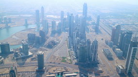 Highest view 4k time lapse from dubai stock footage
