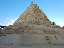 Highest in the world sandcastle 16,68 meters in 2017 Royalty Free Stock Photos