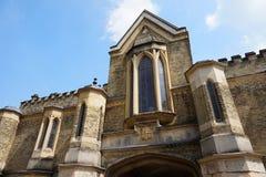 HIGHGATE, ΛΟΝΔΙΝΟ, UK - 12 Μαρτίου 2016: Εξωτερικό του παρεκκλησιού στο δυτικό νεκροταφείο στοκ φωτογραφίες με δικαίωμα ελεύθερης χρήσης