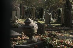 Highgate Cemetery in London royalty free stock image