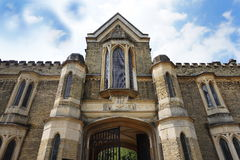 HIGHGATE, LONDON, UK - March 12, 2016: Exterior of the chapel in the West Cemetery Royalty Free Stock Photography