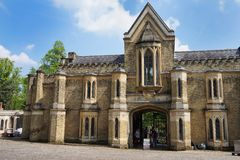 HIGHGATE, LONDON, UK - March 12, 2016: Exterior of the chapel in the West Cemetery Royalty Free Stock Photos