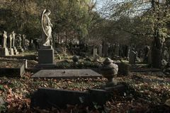 Highgatebegraafplaats in Londen royalty-vrije stock foto's