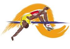 Highjumper stock illustrationer