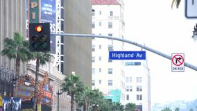 Highland avenue sign stock video footage