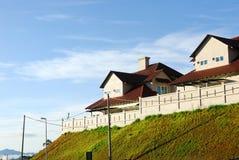 Highland Cottages. Highland houses/cottages on hill Stock Images