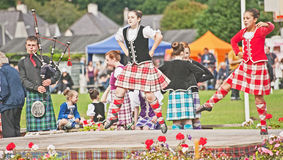 Highland dance at Glenurquhart Games. Royalty Free Stock Photo