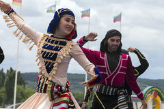 Highland Dance in Pyatighorsk city. Royalty Free Stock Images