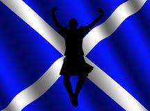 Highland dancer with flag Stock Photos