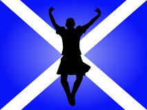 Highland dancer leaping Stock Photo