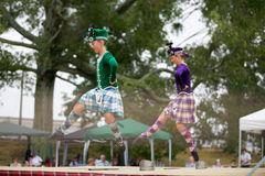 Highland dancers. Stock Image
