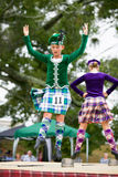 Highland dancers. Royalty Free Stock Photos