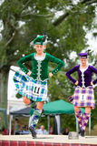 Highland dancers. Stock Photos