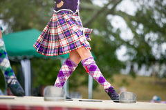 Highland dancers. Stock Photo