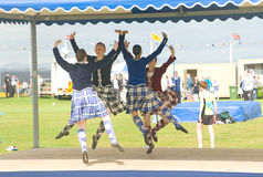 Highland Dancers competing at Nairn. Royalty Free Stock Images