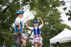 Highland dancers. Royalty Free Stock Images