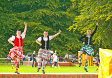 Highland Dancers at Strathpeffer. Royalty Free Stock Photography