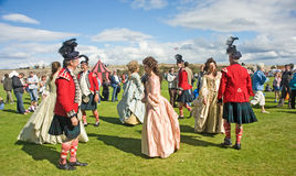 Highland dancing at Fort George. Stock Image
