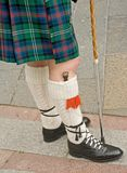 Highland dress; details. Royalty Free Stock Photos