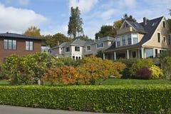 Highland drive neighborhood Seattle WA. Stock Photography