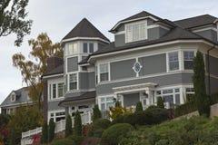Highland drive neighborhood Seattle WA. Royalty Free Stock Image