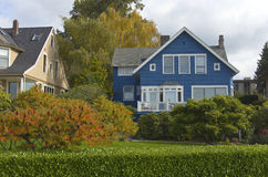 Highland drive neighborhood Seattle WA. Stock Images