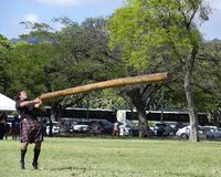 Highland Games 8. Event:  Highland Games, 27th Annual Hawaiian Scottish Festival 05.IV.08 Royalty Free Stock Photo