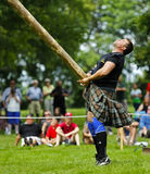Highland Games Caber Toss stock photos