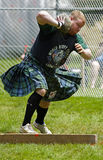 Highland Games Heavy Stone Throw Royalty Free Stock Photography