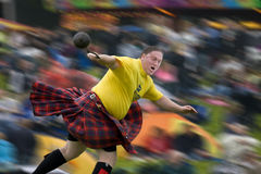 Highland Games - Scotland. Sportsman at the Cowal Gathering Highland Games near Dunoon on the Cowal Peninsula in Scotland Royalty Free Stock Photo