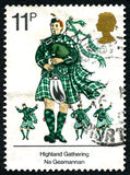 Highland Gathering UK Postage Stamp Royalty Free Stock Images